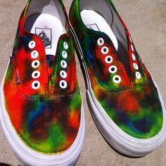 d84c4a1252 This r so cool tied dyed vans  )