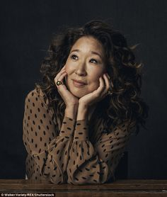 Thoughtful: Former Grey's Anatomy star Sandra Oh has two movies at the festival, animated film Window Horses and dark comedy Catfight