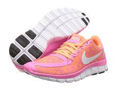 Nike Free 5.0 V4 Black/Anthracite/White/Red Violet - 6pm.com