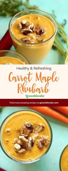 Carrot Maple Rhubarb on Green Blender