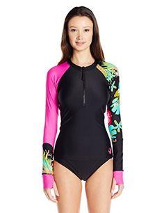 Body Glove Women's Akela Zip-Front Sleek Long Sleeve Rash Guard >>> Learn more by visiting the image link. Swim Shirts For Women, Swim Shorts Women, Thing 1, Women Lifestyle, Black Media, Women Swimsuits, Fashion Brands, Topshop, Women's Swimming
