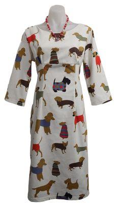 Dog Day Dress - 1960s pattern. Day Dresses, Dresses For Work, Vintage Patterns, Dog Days, Originals, 1960s, High Neck Dress, Fabric, Women