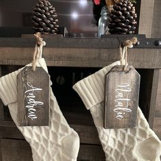 Christmas / giant tags / wood tags / farmhouse signs / christmas signs / christmas decor / stocking tags / christmas tags / name tags Christmas Booth, Christmas Signs, Christmas Crafts, Christmas Decorations, Christmas Stuff, Christmas Ideas, Wood Bead Garland, Beaded Garland, Human Body Unit