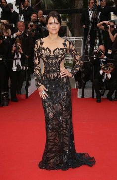 Michelle Rodriguez in a Zuhair Murad dress at Cannes 2015