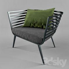 Exterior modern armchair