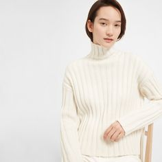Women's Wool-Cashmere Rib Oversized Turtleneck | Everlane