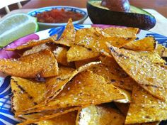 "Salted Lime Baked Corn Tortilla Chips -- like the ""Hint of Lime"" version at the store!"
