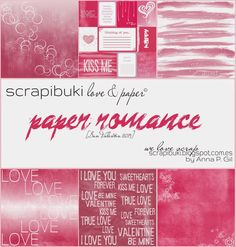 Papeles descargables para san Valentín. #scrapbooking #paperromance #freebies #madscraproject Kiss Me Love, Love You, My Love, Romance, My Forever, Love Valentines, True Love, Scrapbook, Paper
