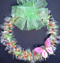 Jelly Bean Candy Wreath Easter Edible Gift by CandyWreathsbyCarla