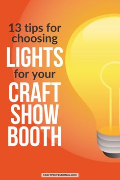 Before you buy portable display booth lighting for your craft fair booth, read these 13 tips on good retail lighting design. #craftfairs #craftprofessional Vendor Displays, Craft Booth Displays, Display Ideas, Selling Crafts Online, Craft Online, Craft Show Booths, Portable Display, Show Lights, Craft Markets