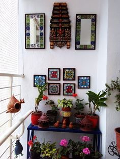 balcony garden I am in my last week before I pop out my second bundle of joy and I am immensely enjoying myself! Reason: I have been on an exciting creative spree this time around, quite different from the last t Indoor Balcony, Small Balcony Garden, Small Balcony Decor, Balcony Ideas, Terrace Garden, Indoor Garden, Narrow Balcony, Small Balconies, Garden Plants