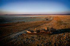 YannArthusBertrand2.org - Fond d'écran - mer d'Aral, région d'Aralsk, Kazakhstan (46°39' N – 61°11' E).