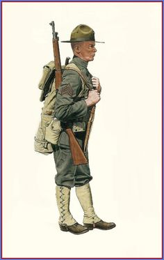 USMC - Sergeant, 6th Marines Regiment, France 1917