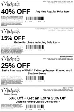 Pinned June 23rd: 40% off a single item and more at Michaels coupon via The Coupons App