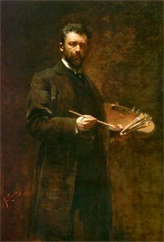 Self-portrait by Franciszek Żmurko (Polish,1859 - 1910)