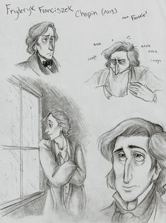 I felt a need to draw Chopin again (since I haven't since and see if I can make him a little better. The 2010 original. Fryderyk Franciszek Chopin (New Romantic Composers, Classical Music Composers, Abstract Drawings, Pencil Art Drawings, What Is Classical Music, Piano, Bullet Journal Banner, Music Memes, Music People