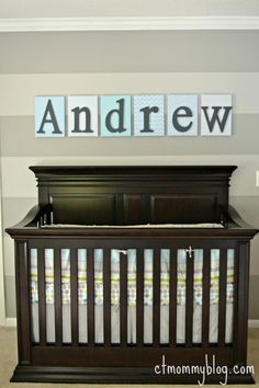 Project Nursery - Gray Striped Nursery Accent Wall