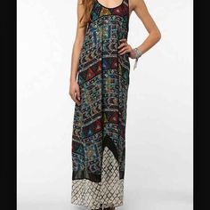 """Kingston Maxi Dress Super lightweight flowy maxi dress!! Very pretty! Only been worn once. I'm a little too short for it without heels (5'5""""). Urban Outfitters Dresses Maxi"""