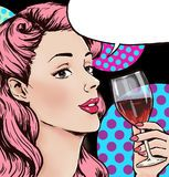 Pop Art Illustration Of Woman With The Comic Speech Bubble .Pop Art Girl. Party Invitation. Birthday Greeting Card.Cute Girl Surpr - Download From Over 62 Million High Quality Stock Photos, Images, Vectors. Sign up for FREE today. Image: 51434225
