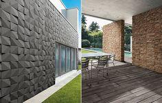 A novidade da Tecnogres Revestimentos Cerâmicos é a parceria com a marca portuguesa A Cimenteira do Louro, onde as duas criaram linhas inspiradas na geometria e nas pedras. O resultado é um jogo de cores, texturas, volume e 3D