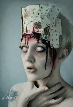 Halloween is all about creepy, scary, bloody and horrible events where you have everything … - Eye Makeup Horror Makeup, Scary Makeup, Fx Makeup, Makeup Ideas, Vegas Makeup, Skull Makeup, Makeup Inspiration, Beauty Makeup, Diy Halloween