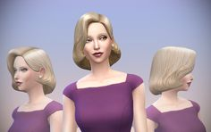 Delco Webney: Retro hairstyle  - Sims 4 Hairs - http://sims4hairs.com/delco-webney-retro-hairstyle/