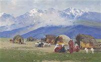 Richard Karlovich Zommer (Russian, 1866–1939) Title: Kyrgyz, Turkestan