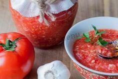 Хреновая закуска из помидор хрена и чеснока на зиму