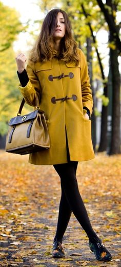 Mustard coat for Fall