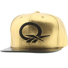 Reebok Question STA3 Faux Leather Snapback Cap (gold / black) NP09Z-ZREEBRGBK - $27.99