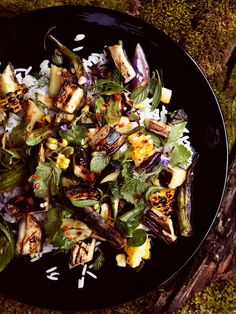 Grilled Vegetable and Rice Salad with Fish-Sauce Vinaigrette
