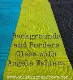 Backgrounds and Borders Class with Angela Walters Easy Hand Quilting, Machine Quilting Patterns, Longarm Quilting, Free Motion Quilting, Quilt Patterns, Machine Quilting Tutorial, Quilting Tutorials, Quilting Ideas, Midnight Quilt Show
