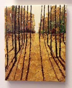 Shadow Play, Textured Acrylic Painting  #art #acrylicpainting #painting #landscape #acrylic
