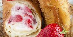 If you have ever had or even heard of chimichangas before, you might be questioning Strawberry Cheesecake Chimichangas... Because chimichangas are usually savoury and not sweet, right