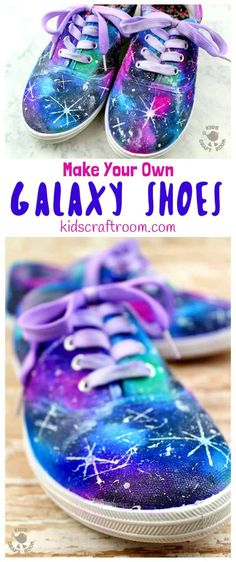 DIY Galaxy Shoes - Kids Craft Room - DIY Galaxy Shoes See how to make DIY Galaxy Shoes. They're totally cosmic! Such a fun space craft for kids and grown-ups. This is an easy Sharpie craft you'll be over the moon with! Space Crafts For Kids, Arts And Crafts For Adults, Crafts For Teens To Make, Arts And Crafts House, How To Make Diy, Teen Crafts, Preschool Crafts, Diy Galaxy Shoes, Galaxy Crafts