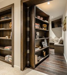 One day I shall have a room hidden behind a bookcase! This is something that must happen.