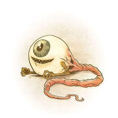 Drawlloween 2015 - Day 9 - Eyeball
