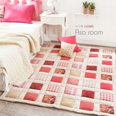 What a great idea! Much cuter, and softer, than traditional rugs!