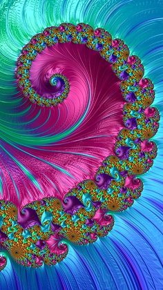 Blue Pink Spiral Fractal By Mo Barton In Fractal Art - Bright Canvas Print Featuring The Digital Art Blue Pink Spiral Fractal By Mo Barton Hintergrund Design Fractal Design Art Images Art Pictures Fractal Images Fractal Art Vector Art Amazing Art Canvas Illusion Kunst, Illusion Art, Fractal Design, Fractal Images, Fractal Art, Butterfly Wallpaper, Colorful Wallpaper, Psychedelic Art, Cellphone Wallpaper