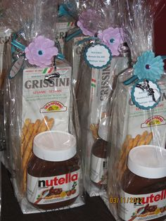Party favor, Nutella lovers