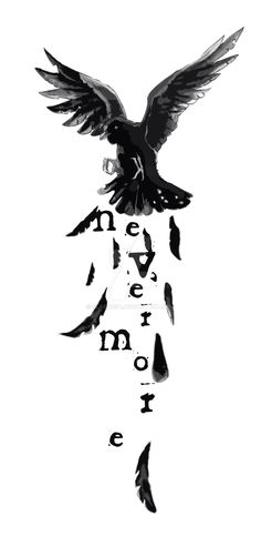 Image result for nevermore tattoo
