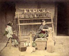 Weavers, ca. 1880 by Kusakabe Kimbei
