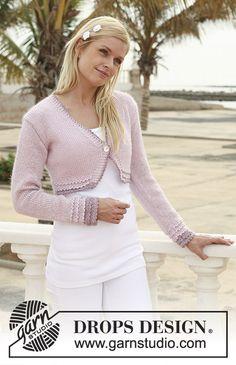 Ravelry: Rosenknopp pattern by DROPS design Drops Design, Knit Shrug, Crochet Cardigan, Easy Crochet, Knit Crochet, Crochet Hats, Knitting Patterns Free, Free Knitting, Free Pattern