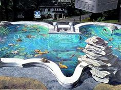 3D pavement art.