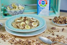 Papas de Quinoa com Banana e Nozes, um pequeno-almoço sem açúcar para fazer em 5 minutos