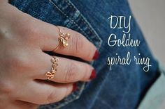 DIY – golden rings « Born in 82 – Fashion and Creativity Blog