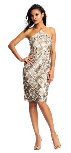 905df2f6 Aidan Mattox   Spring 2018   Geometric Sequin Halter Dress with Illusion  Waist