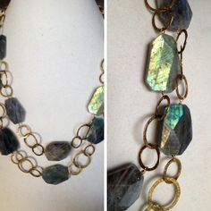 Labradorite Statement Necklace | Designs by Julie Zancanelli - Leawood, KS