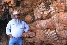 Aboriginal painting site  dated to be 35,000 years old at Malkii  Iga Warta (place of the native Orange) Northern Flinders Ranges, South Australia