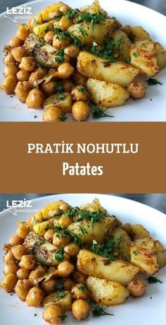 Pratik Nohutlu Patates Vejeteryan yemek tarifleri – The Most Practical and Easy Recipes Chickpea Recipes, Vegan Recipes, Cooking Recipes, Chickpea Salad, 21 Day Fix, Homemade Pasta Dough, Turkish Recipes, Healthy Foods To Eat, Tasty Dishes